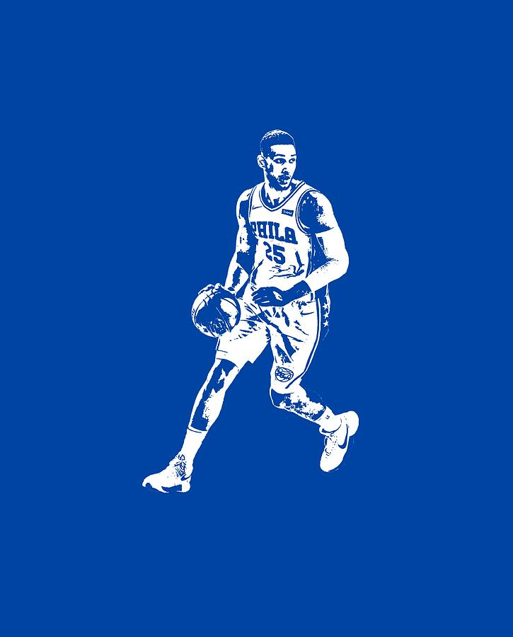 6eaec961020 76ers Mixed Media - Ben Simmons Philadelphia 76ers T Shirt Apparel Pixel  Art 1 by Joe
