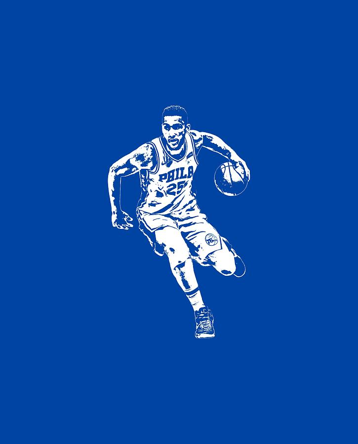 04472fd94a1 76ers Mixed Media - Ben Simmons Philadelphia 76ers T Shirt Apparel Pixel  Art 2 by Joe