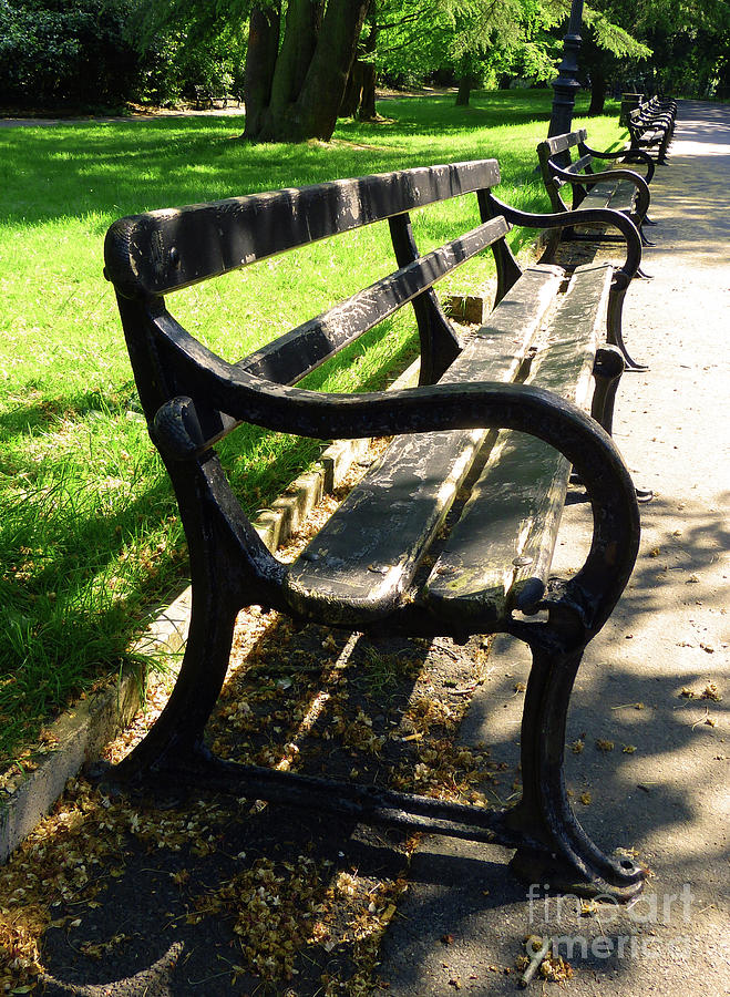 Benches in the Park by Marguerita Tan