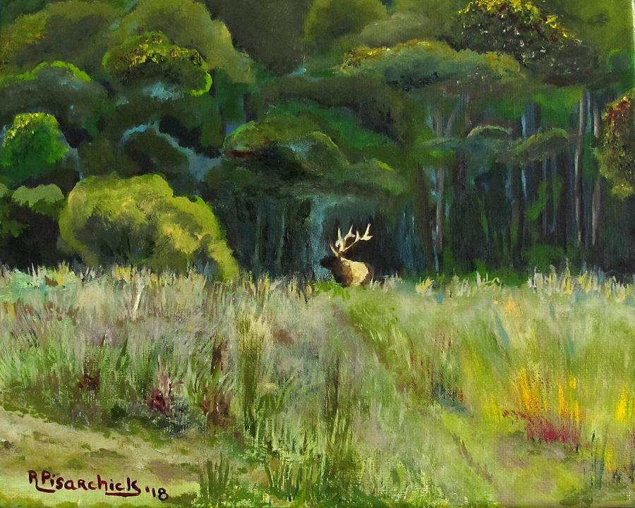 Landscape Painting - Benezette Field by Rosita Pisarchick