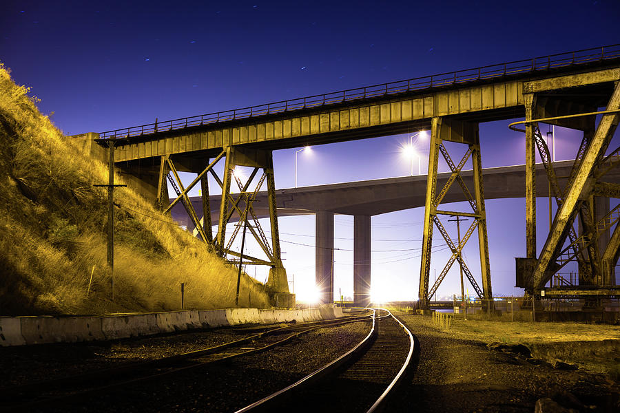 Benicia Tracks Photograph by Hal Bergman Photography