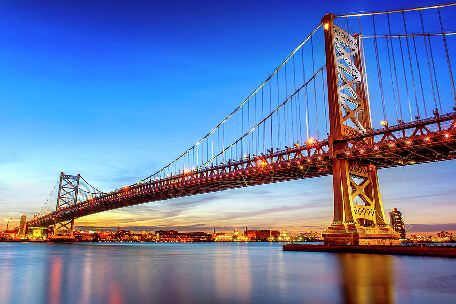 Benjamin Franklin Bridge, Philadelphia Photograph by Jasbassi Photography