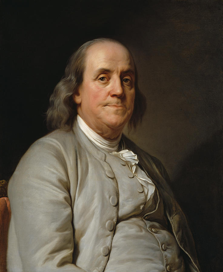 Benjamin Franklin Painting - Benjamin Franklin Painting - Joseph Duplessis by War Is Hell Store