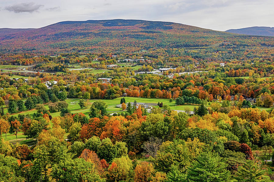 Bennington VT Fall Foliage from the Battle Monument Trees by Toby McGuire