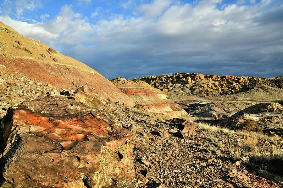 Bentonite Hills Of Ruby Mountain Photograph