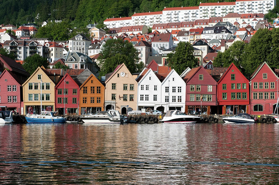 Bergen Old Town Photograph by Ziutograf