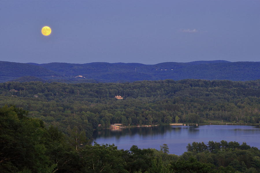 Berkshire Moon over Stockbridge Bowl by John Burk