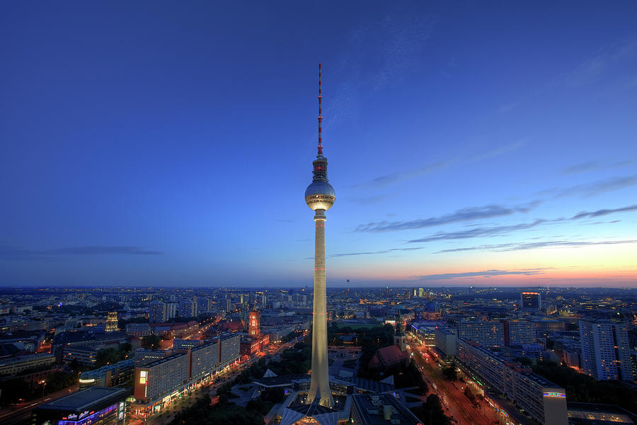 Berlin, Alexanderplatz, Dusk Photograph by Michele Falzone