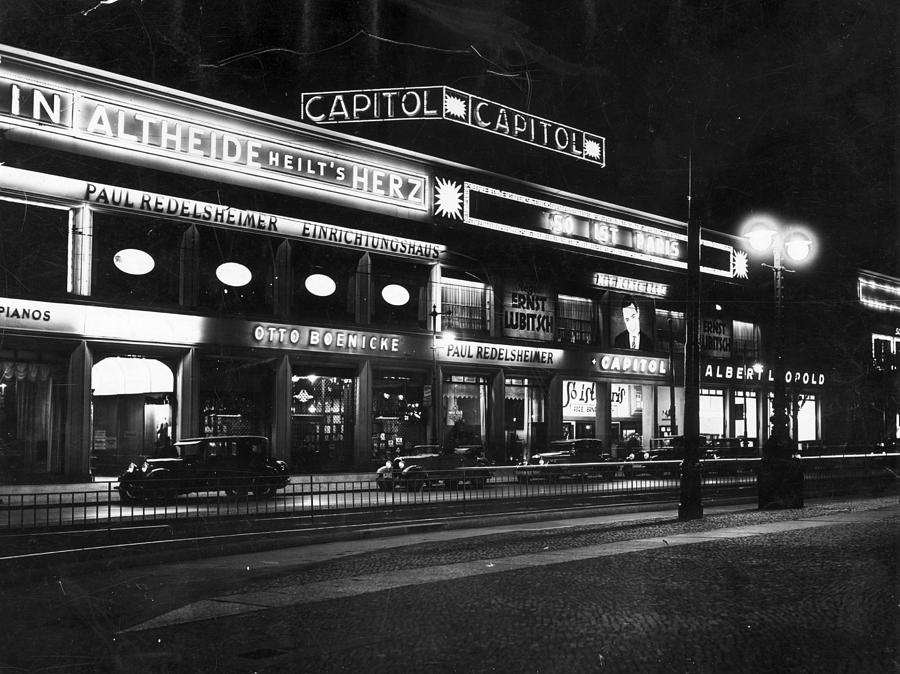 Berlin Cinema Photograph by General Photographic Agency