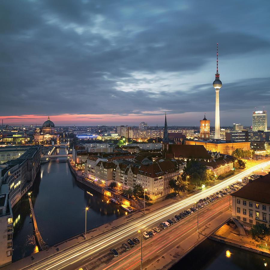 Berlin Cityscape Photograph by Rafael Dols