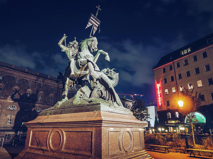 Berlin - Nicholas Quarter - Saint George Statue by Alexander Voss