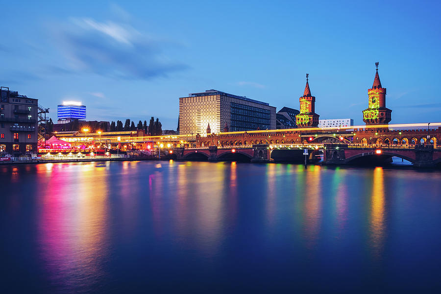 Berlin - Oberbaum Bridge - Spree River Panorama by Alexander Voss