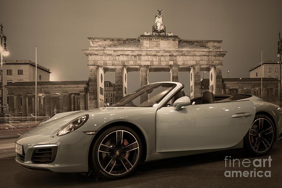 Porsche Logo Photograph - Berlin - Porsche Car by Stefano Senise