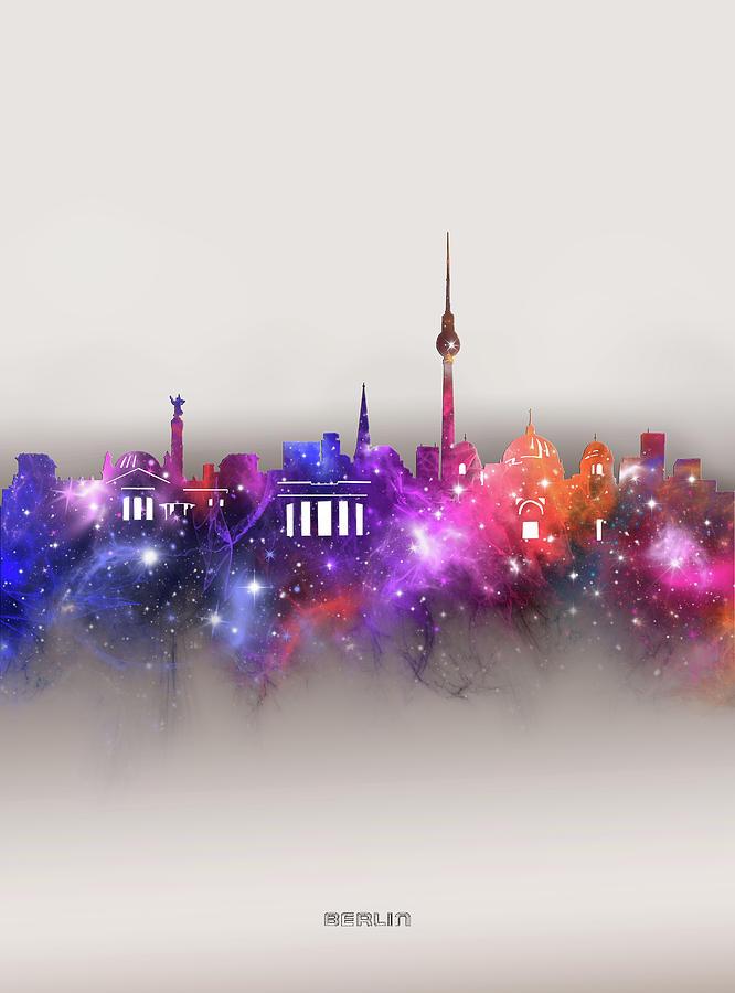Berlin Skyline Galaxy Digital Art