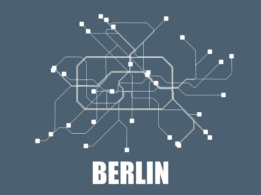 Subway Map Graphic Design.Berlin Subway Map By Naxart Studio