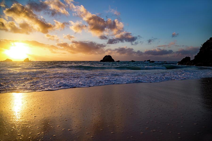 Sunrise Photograph - Bermuda Beach Sunrise by Betsy Knapp