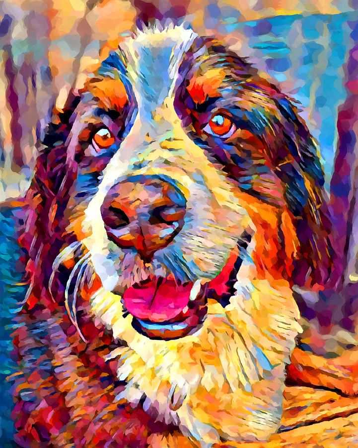 Dog Painting - Bernese Mountain Dog by Chris Butler