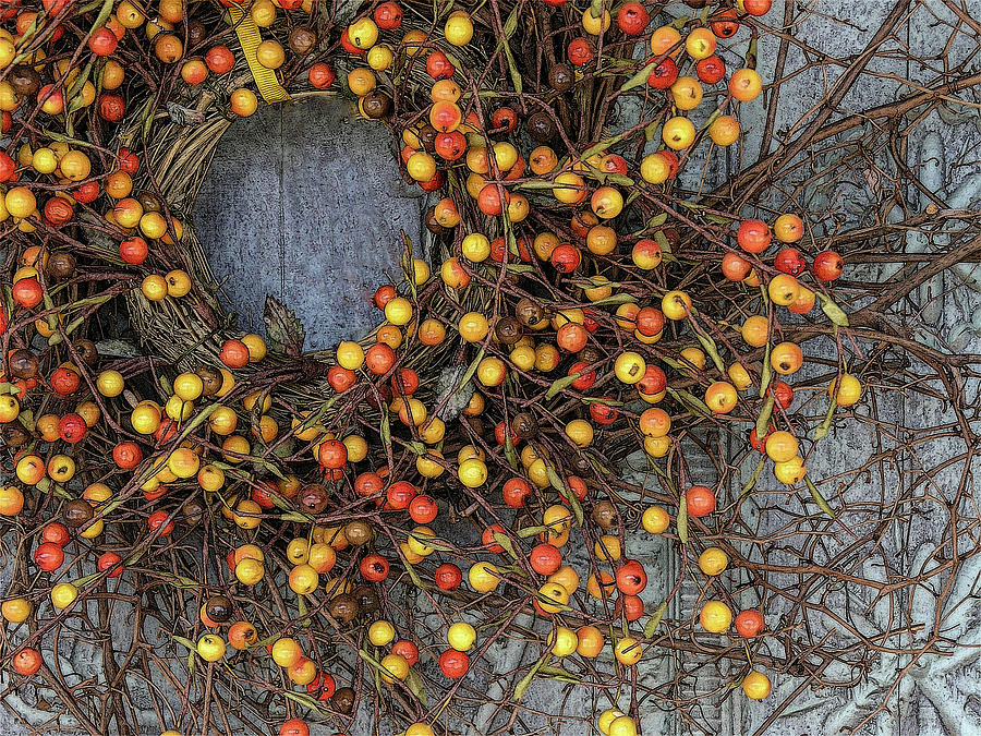 Berry Wreath by Western Light Graphics