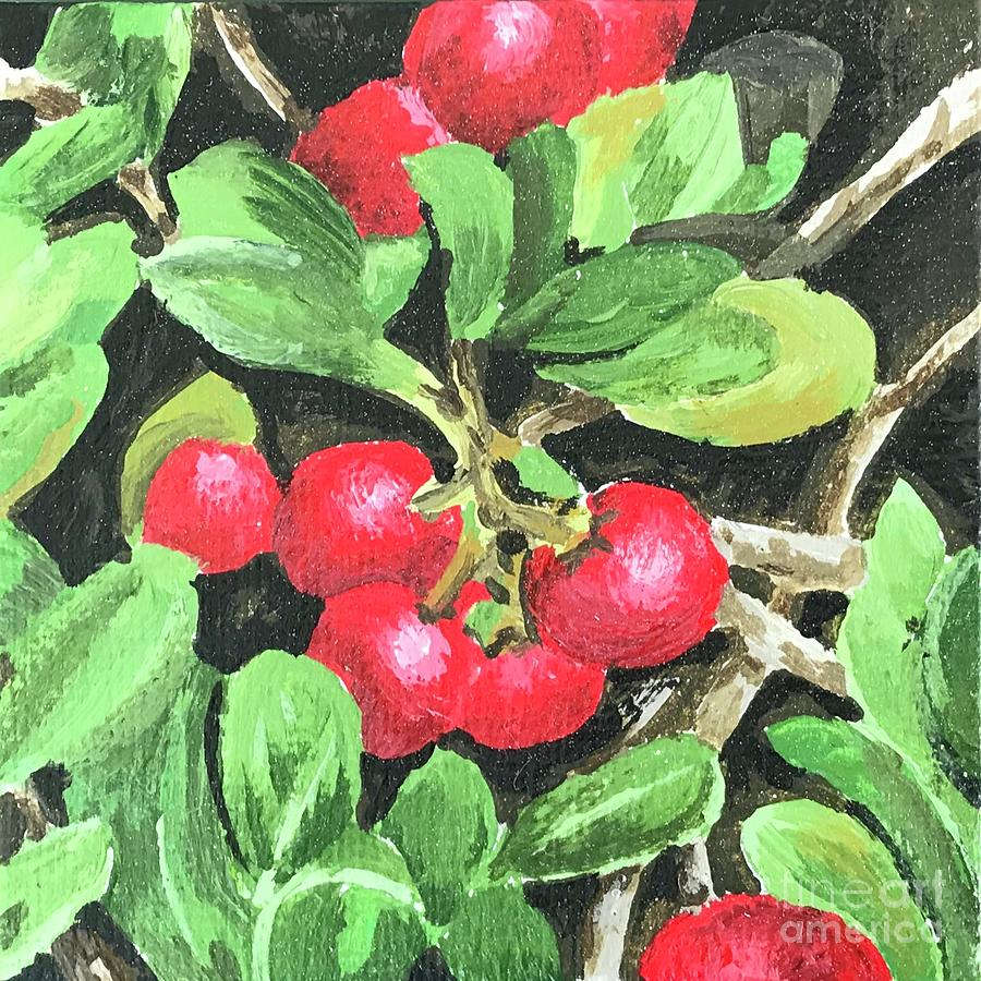 Bearberry Painting -  Berryberry  by Kerry Stroud Peiser