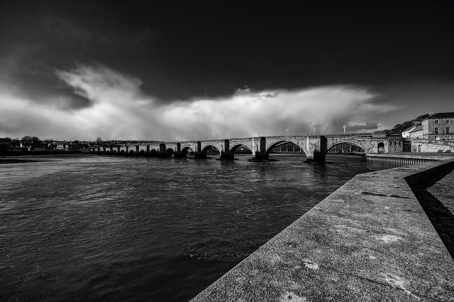 Old Bridge Mixed Media - Berwick Bridge by Smart Aviation