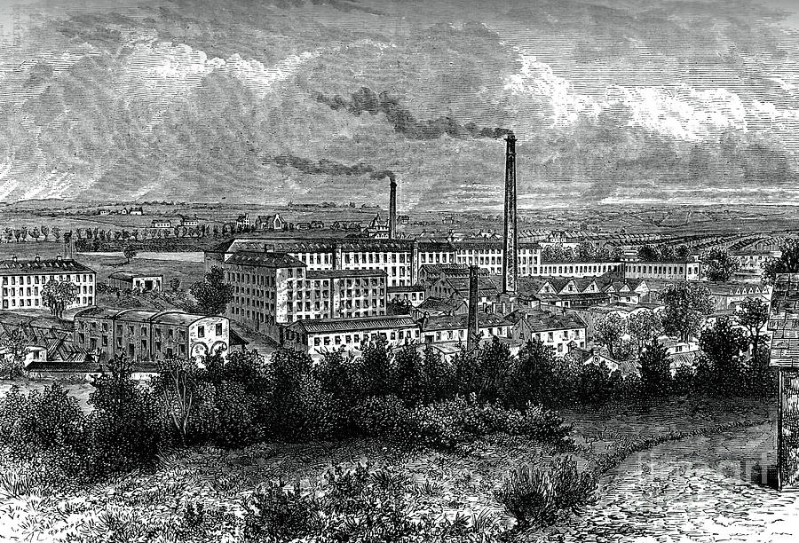 Bessbrook Mills And Village, County Drawing by Print Collector