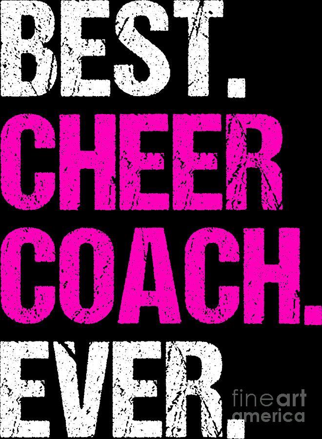 Best Cheer Coach Ever Cheerleading Gift Idea