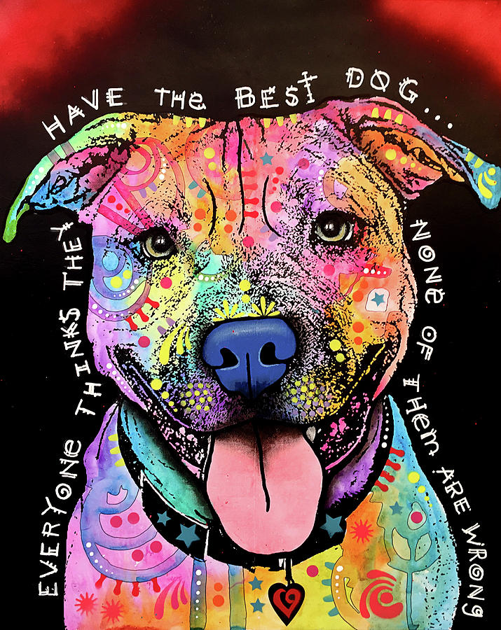 Pups Mixed Media - Best Dog by Dean Russo