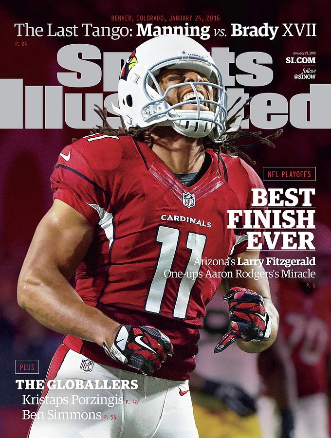 Best Finish Ever Arizonas Larry Fitzgerald One-ups Aaron Sports Illustrated Cover Photograph by Sports Illustrated