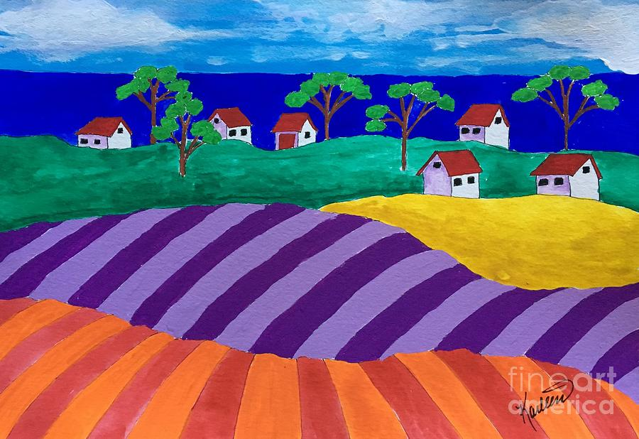 Fields Painting - Best Of Two Worlds by Karleen Kareem