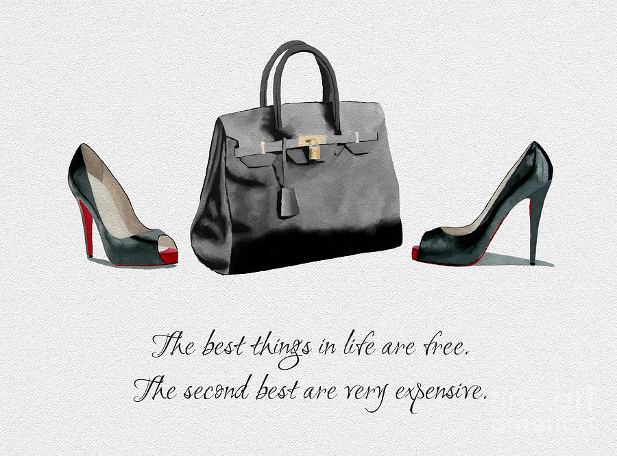 Christian Louboutin Mixed Media - Best things in Life by My Inspiration