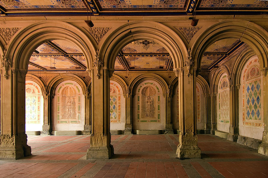 Bethesda Terrace in Central Park by Ron Brown Photography