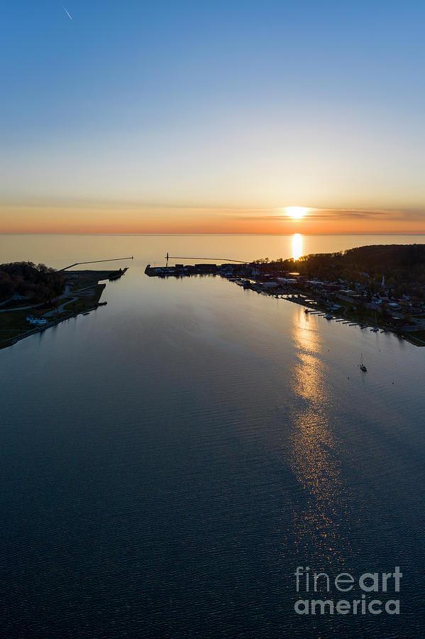 Betsie Bay Sunset Vertical Photograph