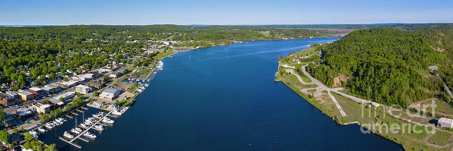 Frankfort Photograph - Betsie Lake Aerial by Twenty Two North Photography