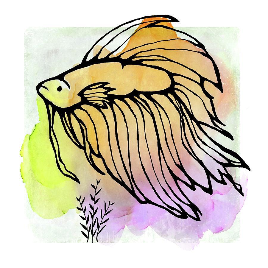 Betta Fish Design by Patricia Strand