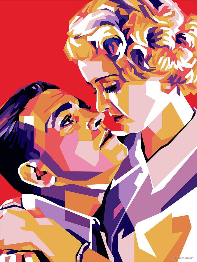 Bette Davis And Richard Barthelmess Digital Art