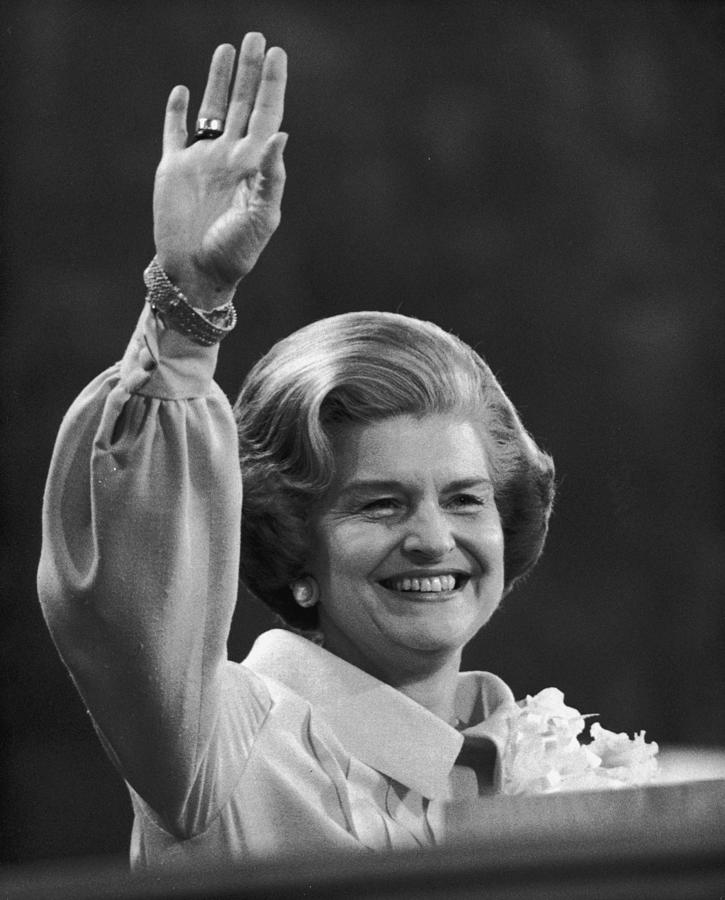 Betty Ford Photograph by Hulton Archive