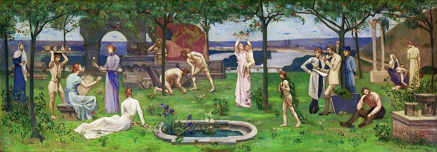 Pierre Puvis De Chavannes Painting - Between Art And Nature - Digital Remastered Edition by Pierre Puvis de Chavannes