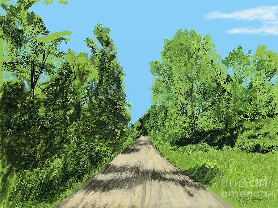 Landscape Digital Art - Bevens Road At French Creek by Joel Charles