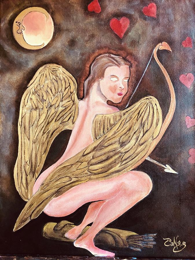 Cupid Painting - Beware of The Cupid by Ron Tango Jr