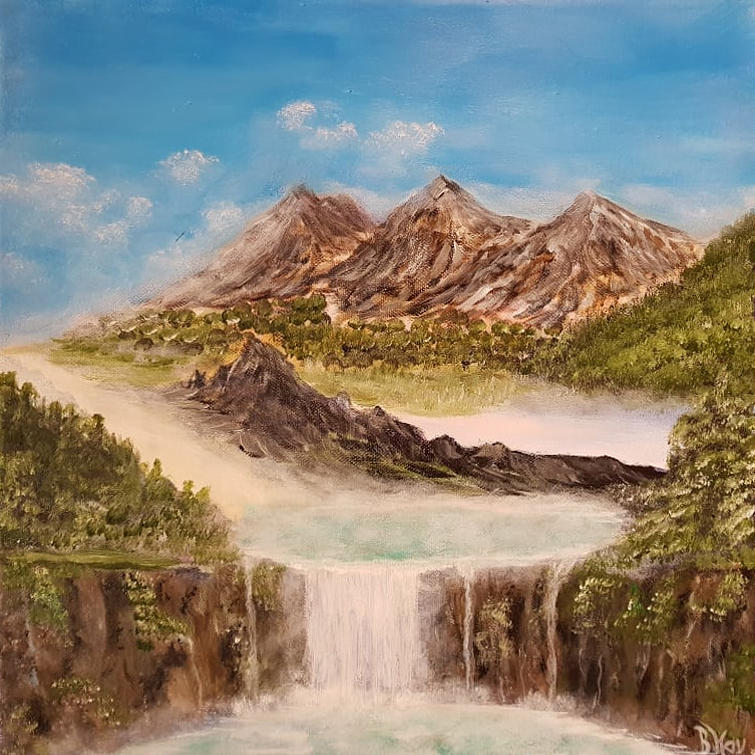 Beyond the mountains by Bernd Hau