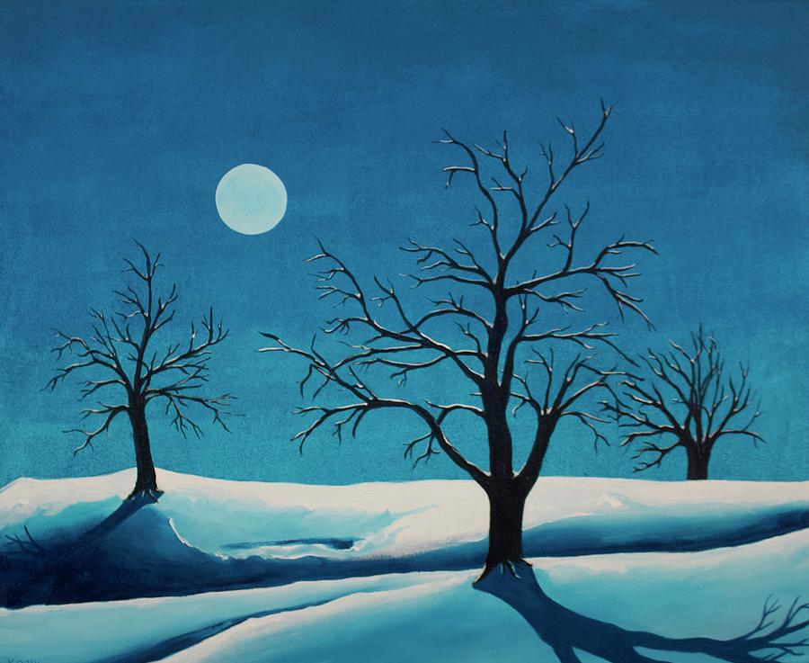 Blue Painting - Beyond This Moment by Rollin Kocsis