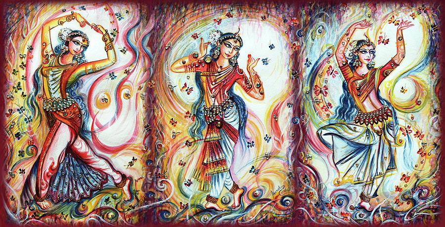 Bharatnatyam Dancers  by Harsh Malik