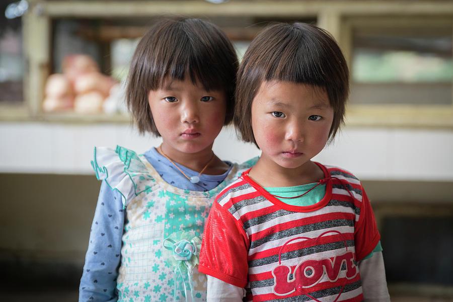 Bhutan Photograph - Bhutan Twins by Ian Robert Knight