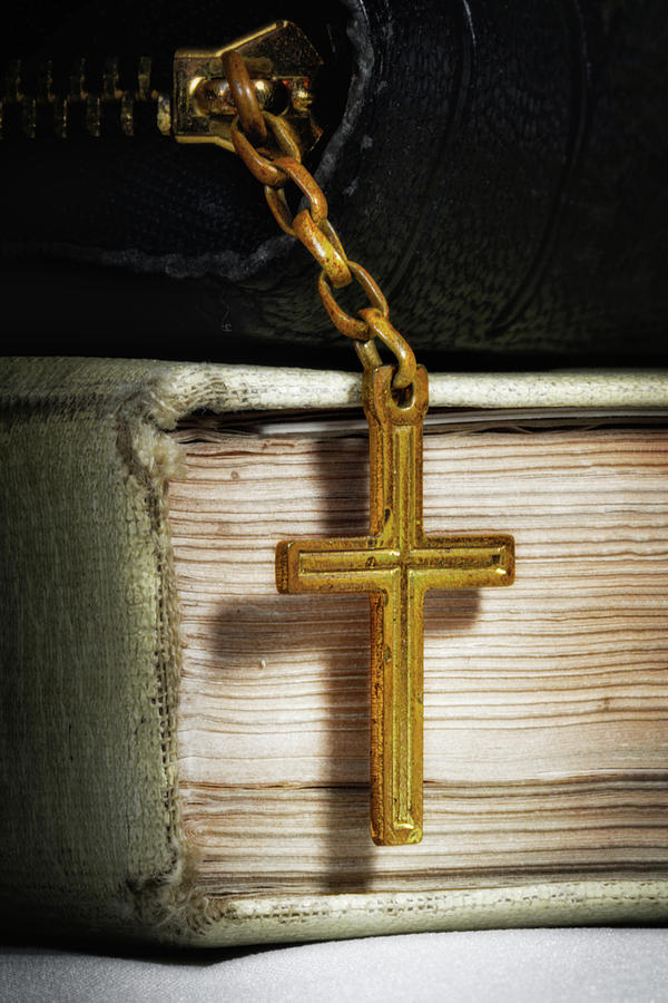 Bibles with Cross by Tom Mc Nemar