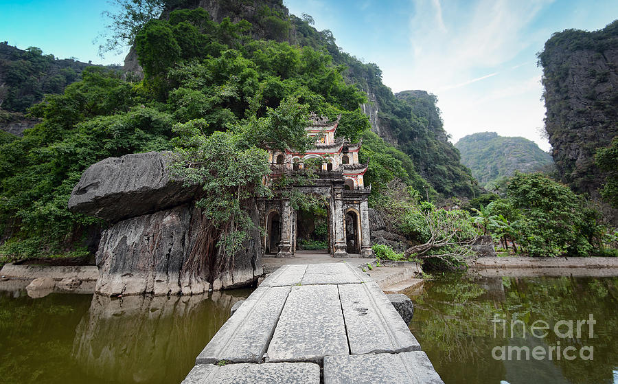 Religious Photograph - Bich Dong Pagoda In Ninh Binh, Vietnam by Banana Republic Images