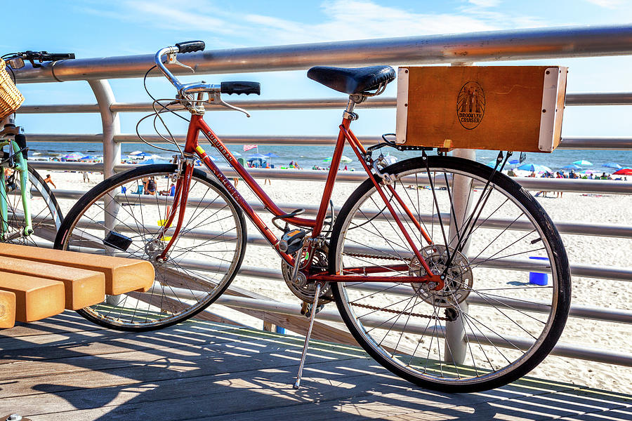 Beach Photograph - Bicycle At The Beach by Lorrie Joaus