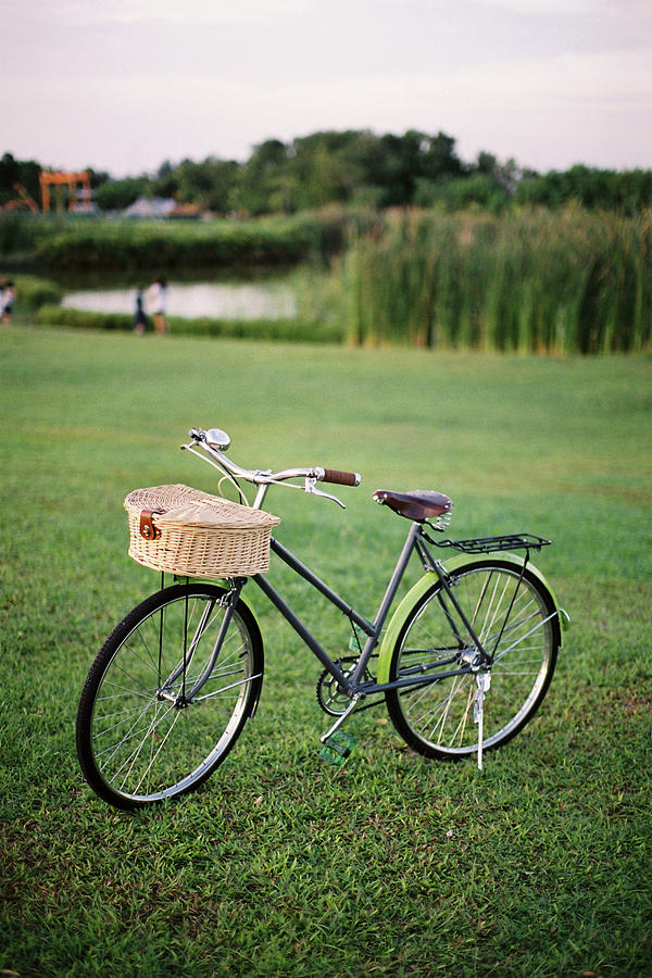 Bicycle At The Park Photograph by Genkigenki