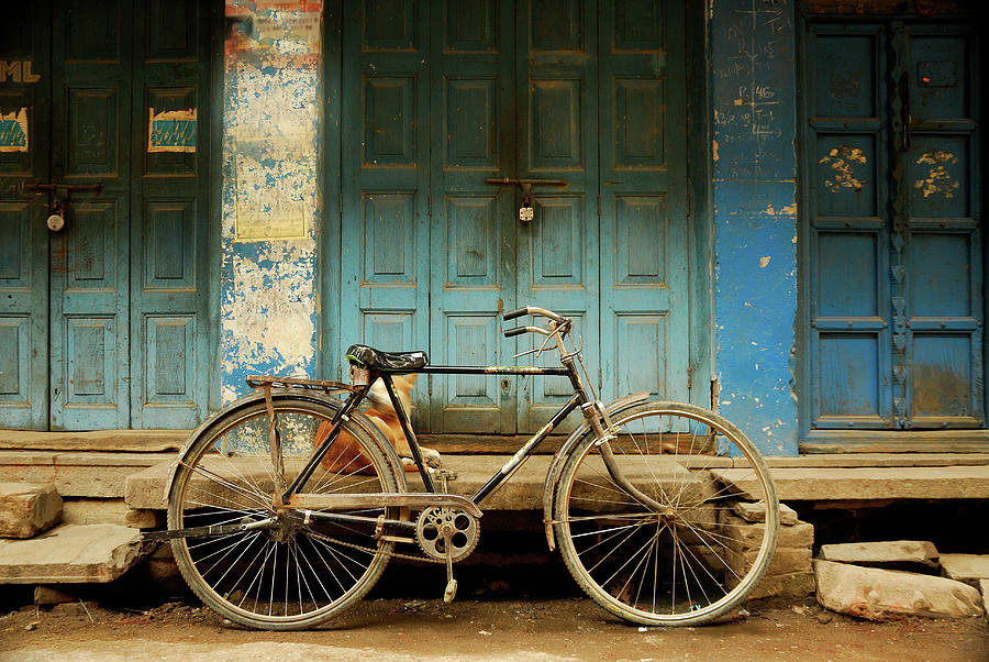 Bicycle Blues Photograph by Suman Roychoudhury