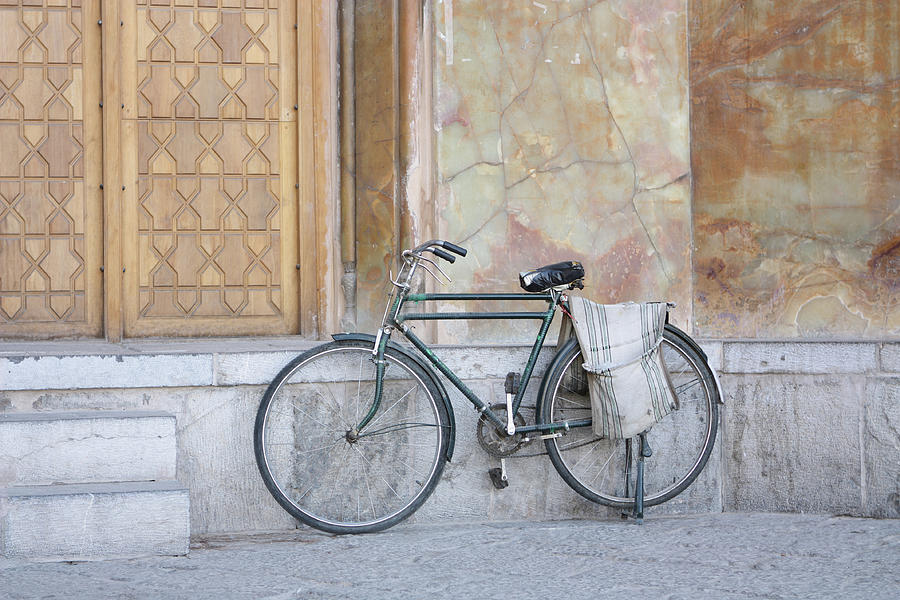 Bicycle Outside The Imam Mosque Photograph by 717images By Paul Wood