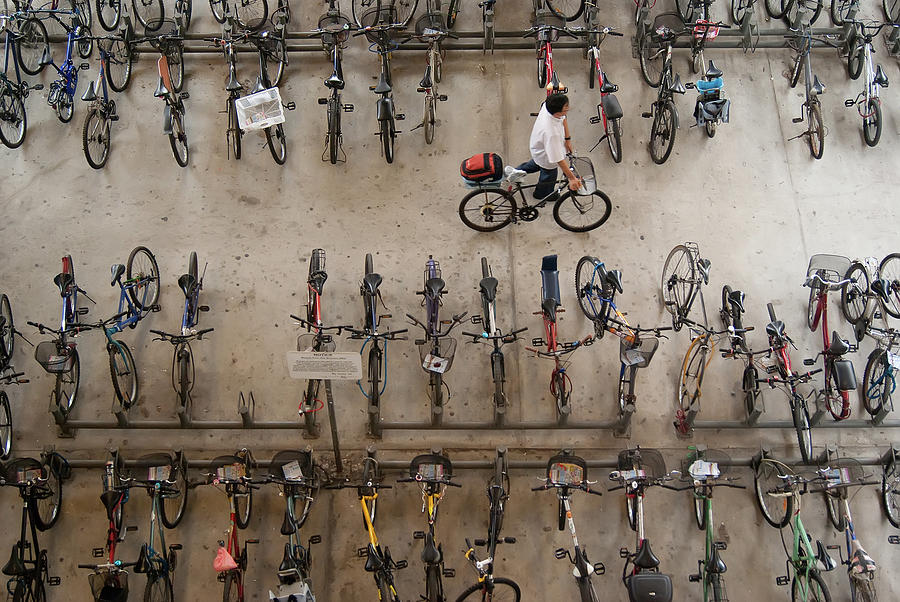Bicycle Park At Boon Lay Mrt Station Photograph by Kokkai Ng